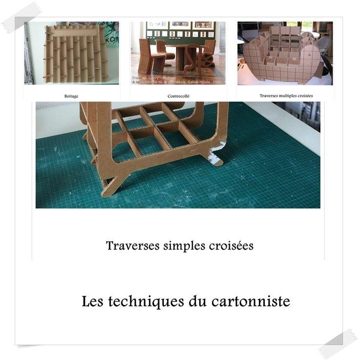 les 401 meilleures images propos de carton techniques sur pinterest meubles fils et coup. Black Bedroom Furniture Sets. Home Design Ideas