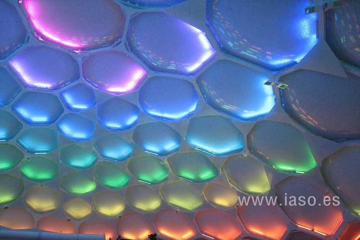 Colored ETFE structure