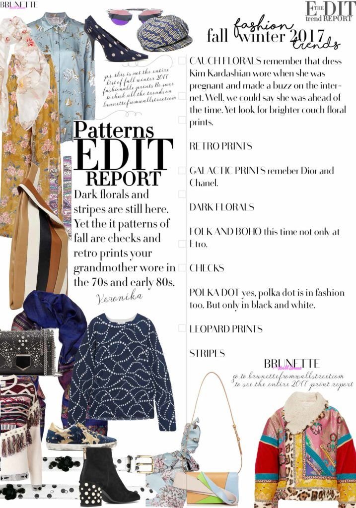 Fashion Blogger Veronika Lipar of Brunette from Wall Street sharing all the autumn winter 2017 prints