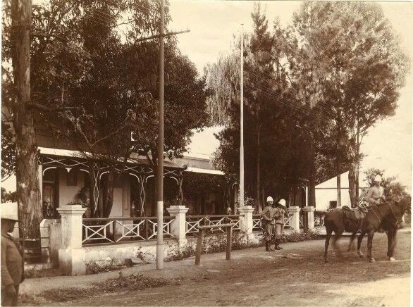 1898 guards in front of house Paul Kruger