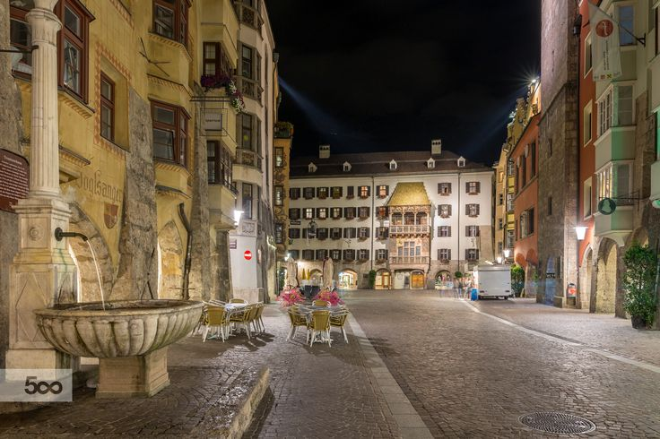 Innsbruck by night by Balazs Fekete on 500px