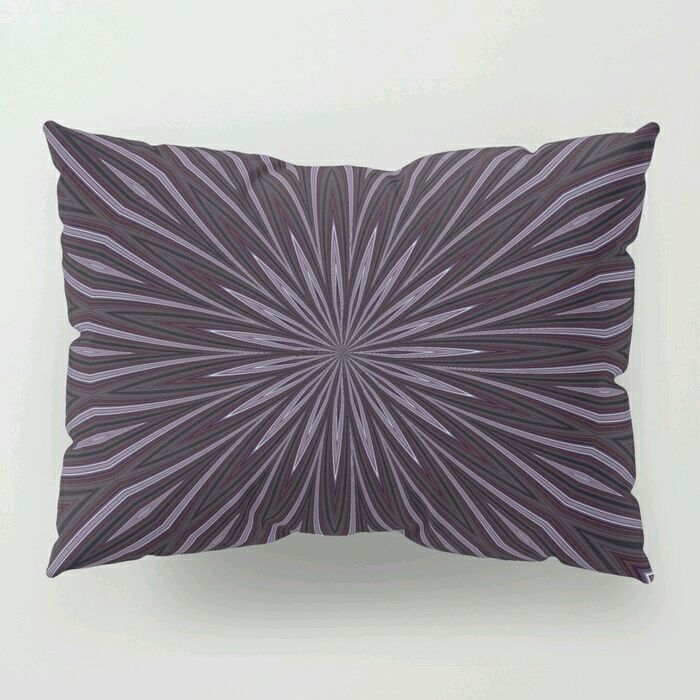 Eggplant And Aubergine Floral Design Pillow Sham By Taiche Society6 Podsms Designer Pillow Pillow Shams Pillows