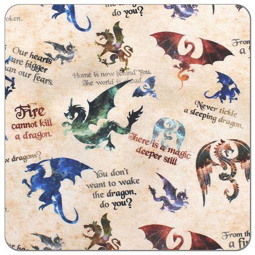 Dragon Lore Print PUL Fabric   Diaper Sewing Supplies