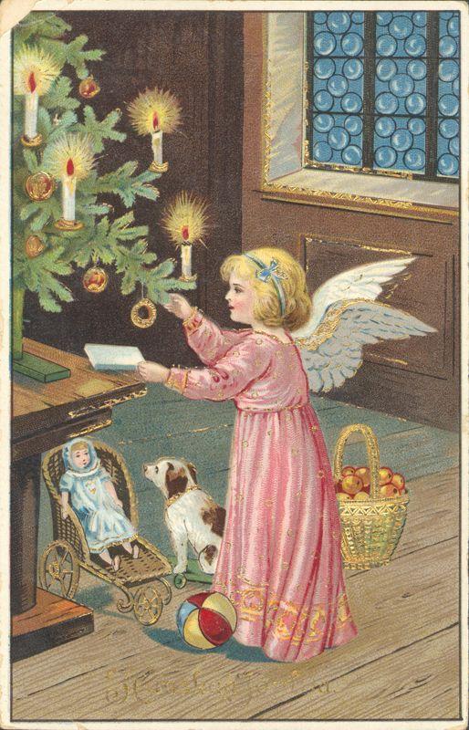 Joulukortti vuodelta 1922.