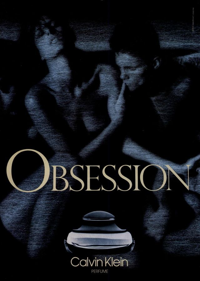 Calvin Klein Fragrance Ad Campaign for Obsession. Model Josie Borain is featured in this 1985 advertisement, photographed by Bruce Weber, for Calvin Klein's Obsession perfume.