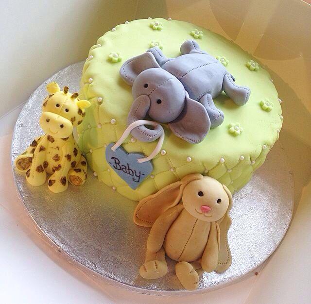 #Cute #BabyShower #Cake #Boy #JellyCat #Toys