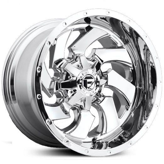 Fuel D573 Cleaver Deep Lip Wheels Chrome