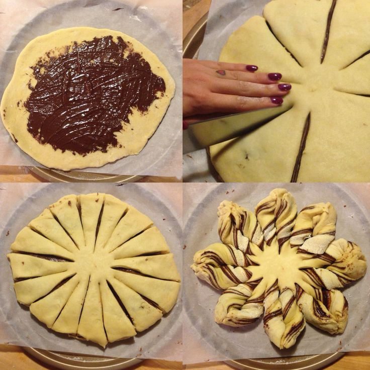 Stella di Panbrioche alla Nutella. La ricetta su lamiacasashabby.com