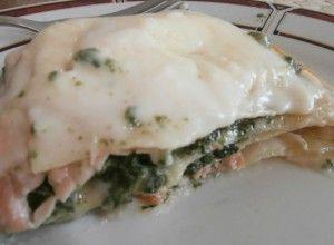 Lasagna cu somon și spanac