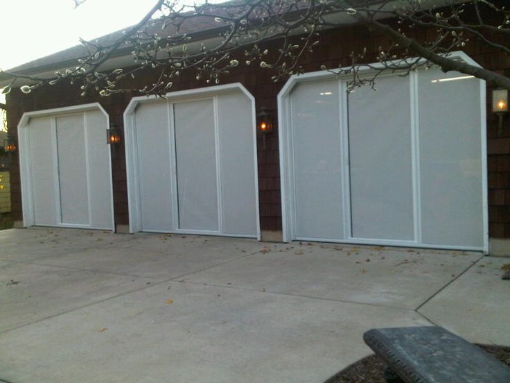 white super screen reduces the visibility looking in from the outside screen doorsgarage
