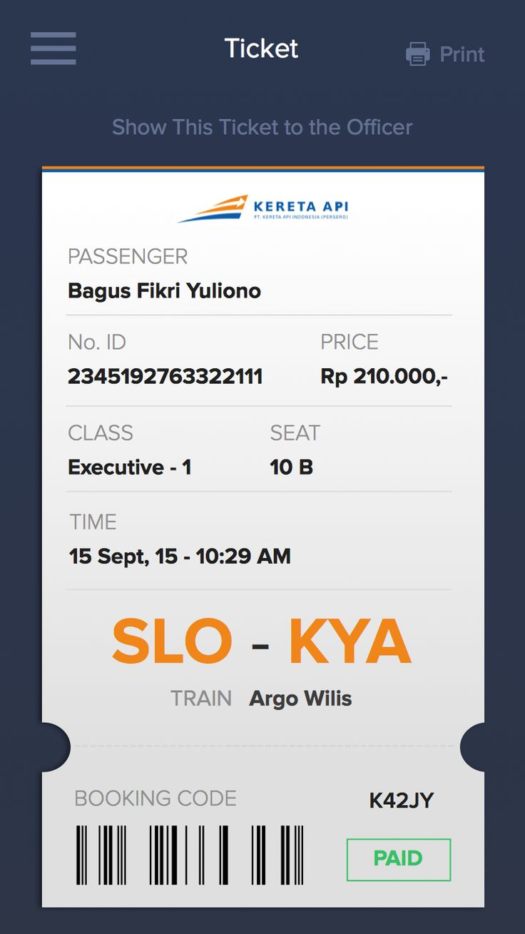 Train Ticket App