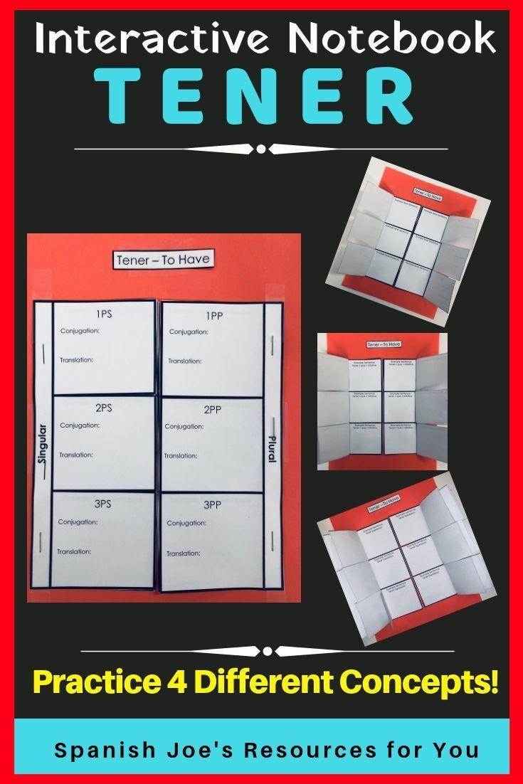 Spanish Tener Tener Que Infinitive Tener Expression Interactive Notebook Interactive Notebook Activities Interactive Notebooks Spanish Interactive Notebook [ 1102 x 735 Pixel ]