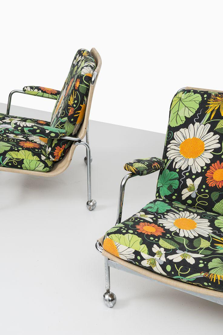 Bruno Mathsson Karin easy chairs by DUX | via Studio Schalling
