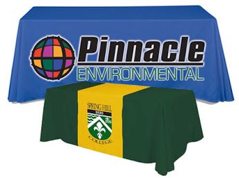 Trade Show Table Covers help draw traffic to your booth and give your business a professional presentation at meetings. Our selection of Branded Table Covers offers many styles and colors to showcase your logo or company name.