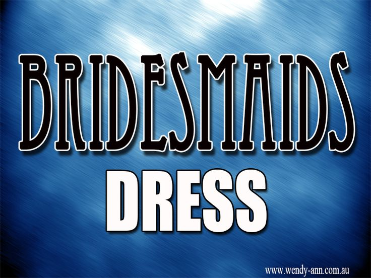If you are planning a wedding ceremony, you may find that there are a lot of things that need to be taken into consideration, such as wedding gowns, wedding invitations, wedding venues, bridesmaid dresses and some others. Click this site http://wendy-ann.com.au for more information on Bridesmaid Dresses. Therefore make sure you opt for the best and the most suitable Bridesmaids Dresses. Follow Us: http://intensedebate.com/profiles/formalsdresses