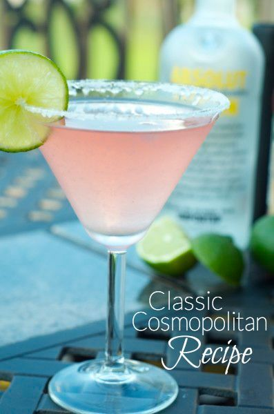 Cocktail Recipe: This classic cosmo recipe is about as perfect as they come. I've been making it for years. Make one, and you'll think your hanging out with Carrie, Miranda and Charlotte in a chic restaurant in NYC!