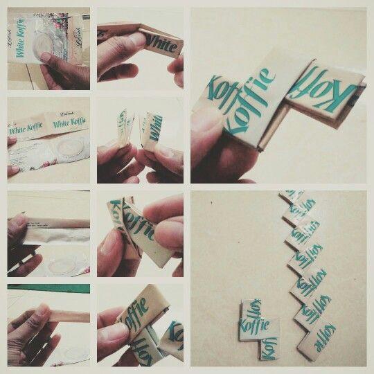 Step #1.. Recycle - Coffee Sachets / Daur ulang Bekas Bungkus Kopi