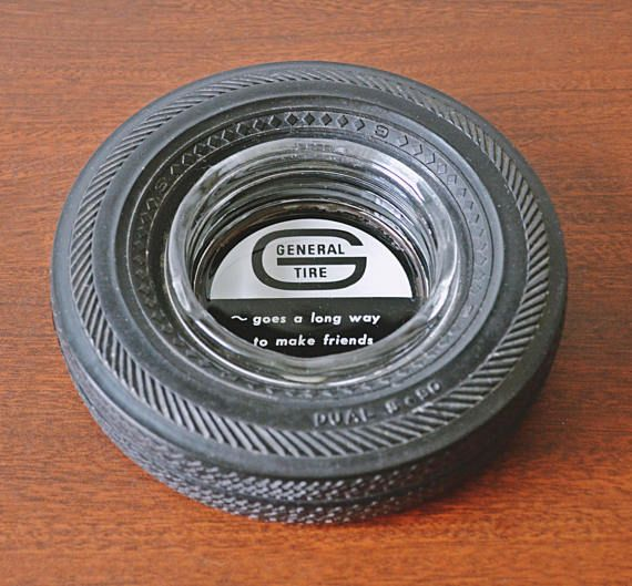 Check out this item in my Etsy shop https://www.etsy.com/ca/listing/515523407/general-tire-advertising-ashtray-tire