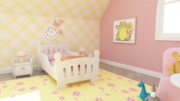 Bajkowa sypialnia dla dziecka  od #internumpolska - w wersji dla dziewczynki lub chłopca