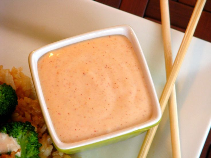 DONE!  YUM YUM WHITE SAUCE- found in Hibachi Restaurants:    Ingredients:  1 cup mayonnaise,  3 tablespoons white sugar,  3 tablespoons rice vinegar,  2 tablespoons melted butter,  3/4 teaspoon paprika,  3/8 teaspoon garlic powder  -In a small bowl, combine mayonnaise, white sugar, rice vinegar, melted butter, paprika and garlic powder.  -Mix well.  -Cover and refrigerate for about 30 minutes.