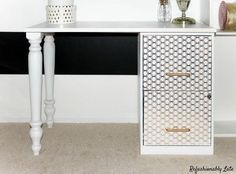How to make a desk from an old file cabinet.
