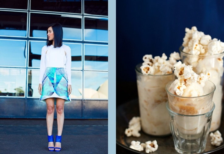 Nicole Warne at Gary Pepper and Caramel Popcorn Ice Cream + Cashews at Hungry Girl Por Vida