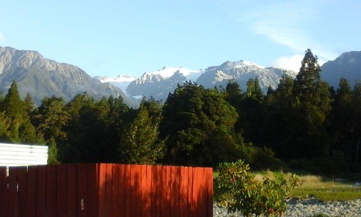 Franz Josef camping ground had an amazing back drop.