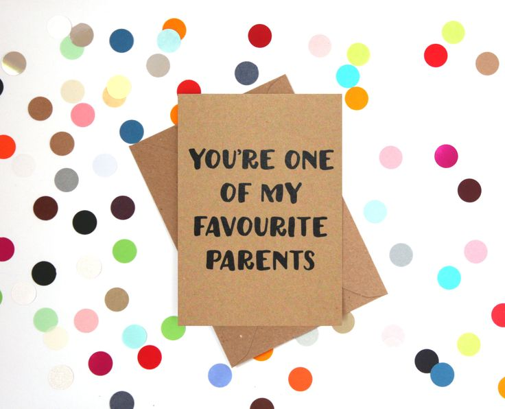 Funny Mother's Day Card: You're one of my favourite parents - pinned by pin4etsy.com