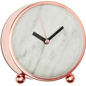 Lisa T Marble Effect Desk Clock Target Australia