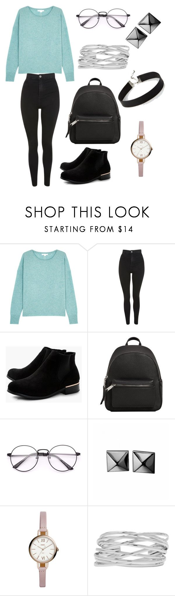 """""""Untitled #16"""" by andreea24z ❤ liked on Polyvore featuring Duffy, Topshop, Boohoo, MANGO, Waterford, FOSSIL, M&Co, Express and chicflats"""