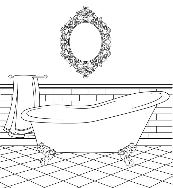 restroom coloring pages - photo#26