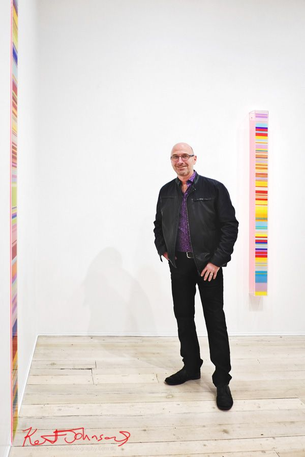 """Paul Snell photographed at """"Chromophilia"""" at Gallery 9.Photographed for Street Fashion Sydney by Kent Johnson."""