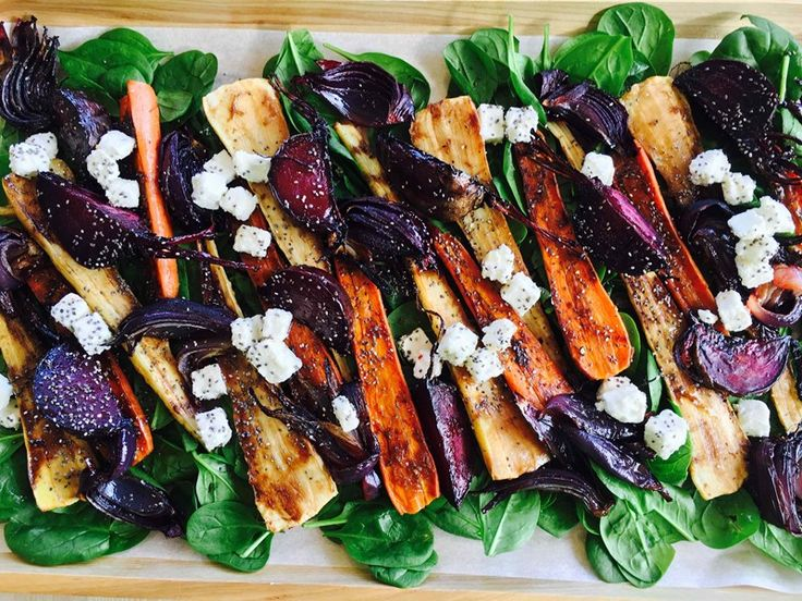 Balsamic Roasted Parsnip & Carrots