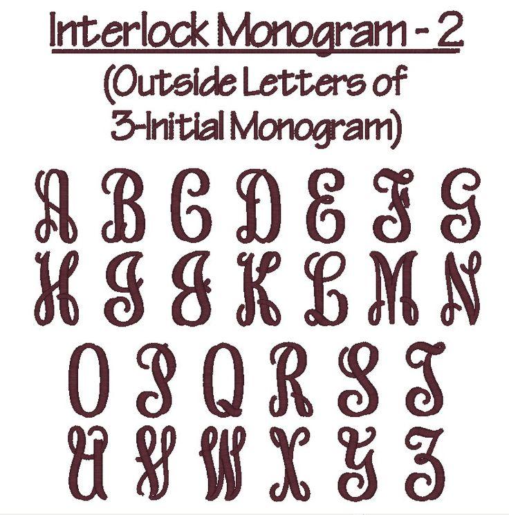 monogram font