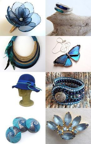Blue Glamour! by Sabrina on Etsy--Pinned with TreasuryPin.com