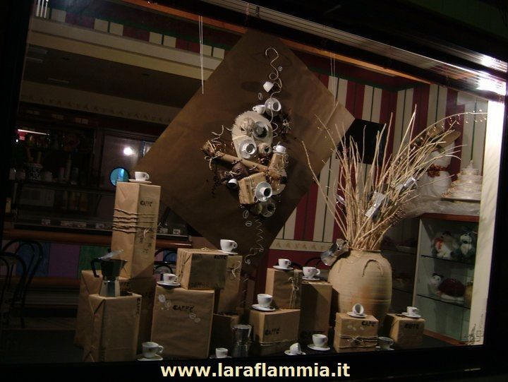 """Coffee inspiration""..Window Completely handmade for Desirè Bar & cakes.  www.larafammia.it  Write to laraflammia@gmail.com"