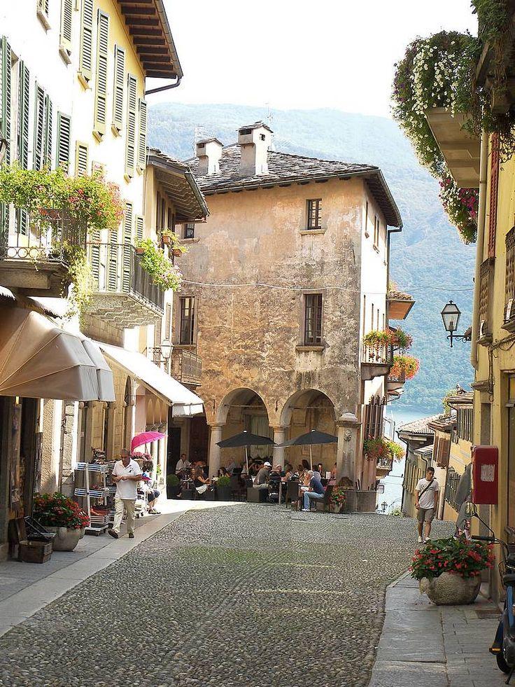 Cannobio on the shore of Lago d'Orta, Piemonte,  Italy