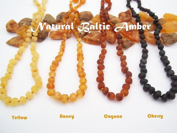 Maximum Effective  Raw Unpolished Baltic Amber Baby Teething Necklace. Natural Baltic Amber. on Etsy, $12.99