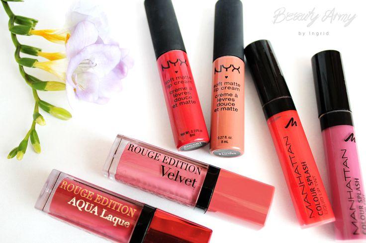 liquid lipsticks.