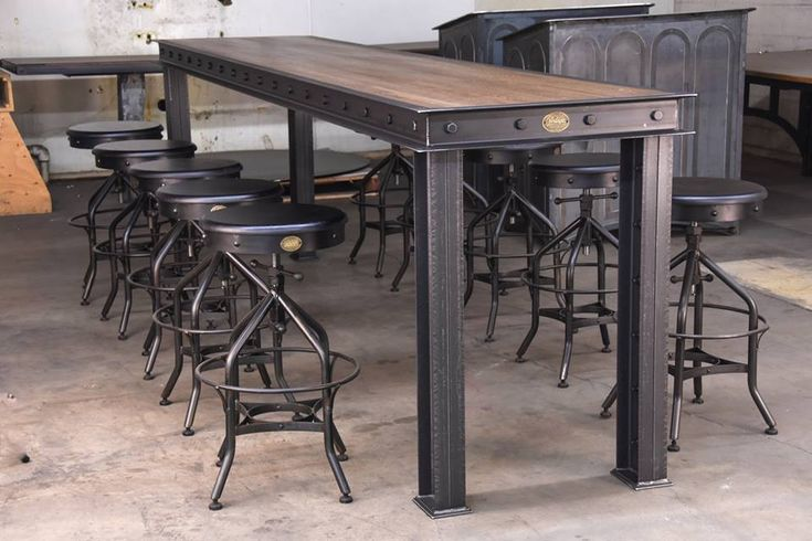 The Firehouse Bar Table by Vintage Industrial Furniture