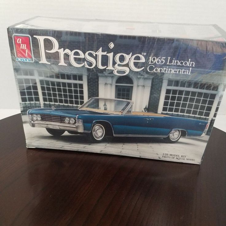 AMT Prestige 1965 Lincoln Continental Cabrio 1:25 Modellbausatz SEALED 1987 '65 … – Ebay & Etsy Found Treasures