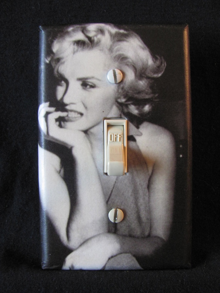 Marilyn Monroe Light Switch Cover Black and White. $5.99, via Etsy.