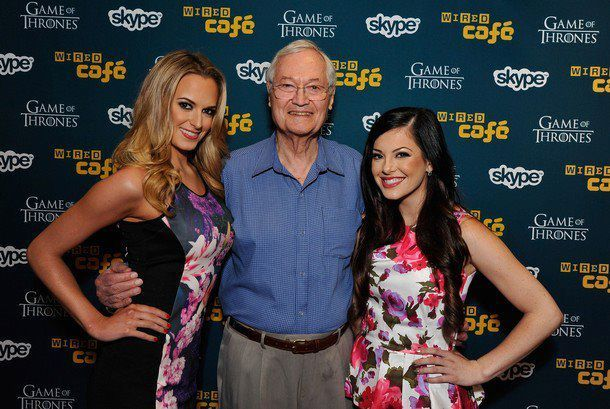 olivia alexander jena sims and roger corman comic con