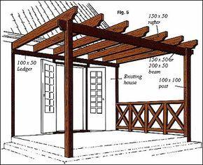 aprende a hacer una prgola de madera para aprovechar un espacio disponible yu