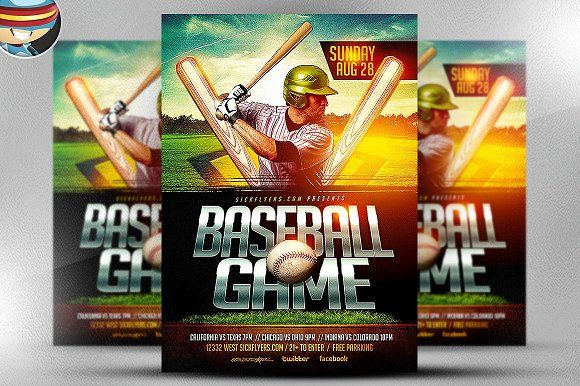 Baseball Flyer Template By Flyerheroes On Creativemarket