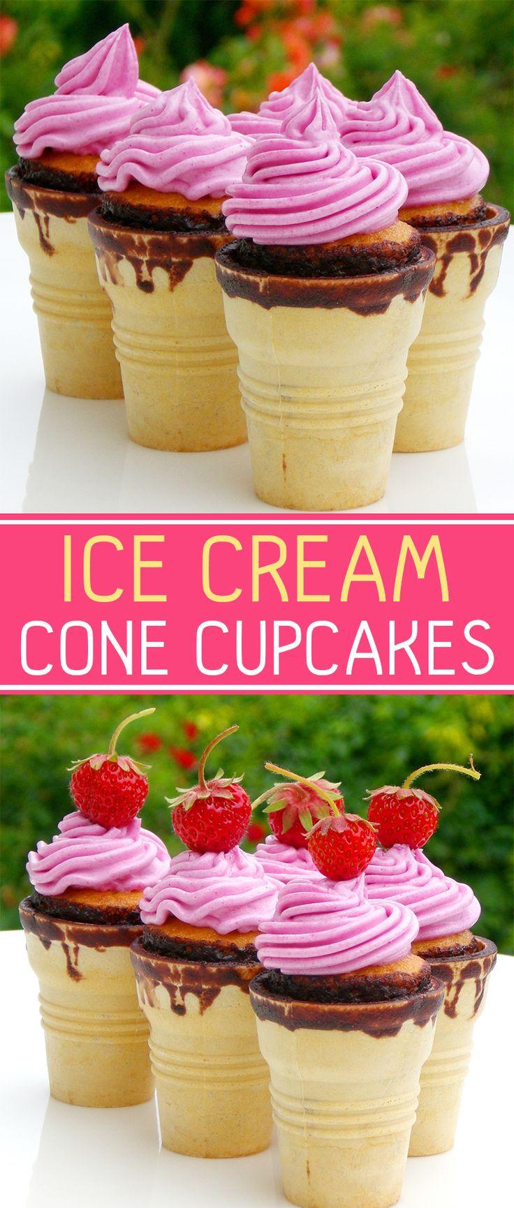 Cake Mix Ice Cream Cone Cupcakes Recipe Cupcake Cones