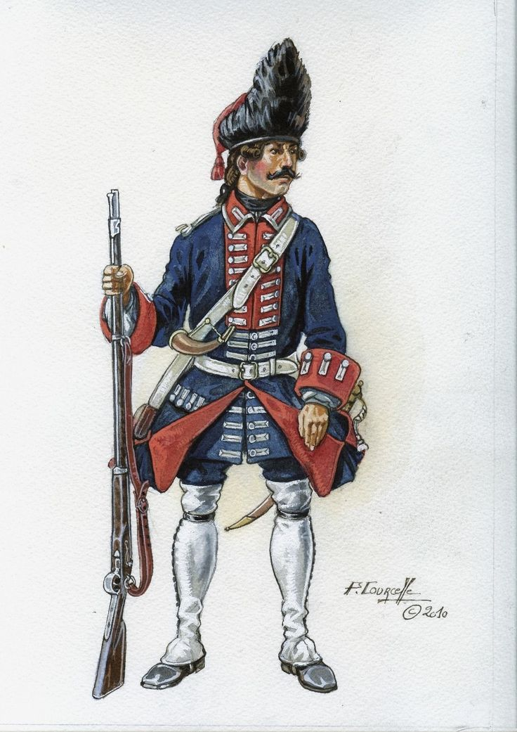 France - Soldat du rgt de Grenadiers de France, vers 1769 Courcelle