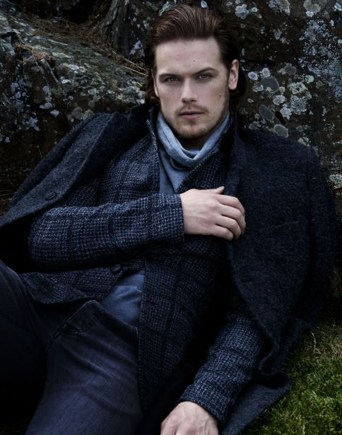 Sam Hueghan photoshoot for Droughtlander