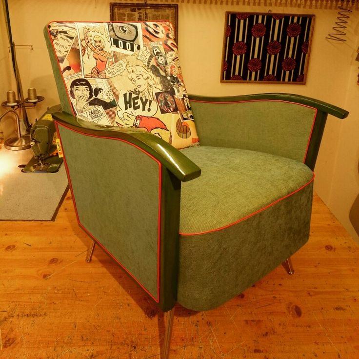 Pop art chair by Kárpit Doktor