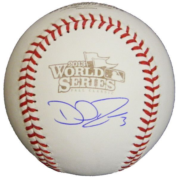 David Ross signed Rawlings official 2013 World Series logo MLB baseball. Item comes with a Schwartz Sports Memorabilia tamper-proof numbered hologram and Certificate of Authenticity which can be verif